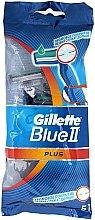 Parfémy, Parfumerie, kosmetika Sada jednorázových holicích strojů, 5ks - Gillette Blue II Plus