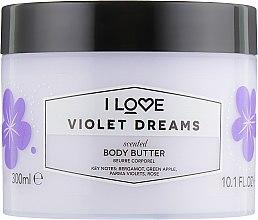 Parfémy, Parfumerie, kosmetika Tělový olej Violkové sny - I Love Violet Dreams Body Butter