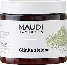 Parfémy, Parfumerie, kosmetika Zelená hlína na obličej - Maudi