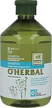 Parfémy, Parfumerie, kosmetika Šampon pro suché a matné vlasy se lněným extraktem - O'Herbal