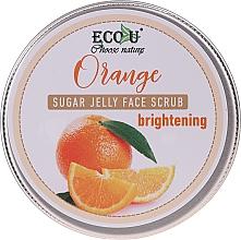 Parfémy, Parfumerie, kosmetika Zesvětlující pleťový peeling s cukrovým želé a pomerančem - Eco U Orange Brightening Sugar Jelly Face Scrub
