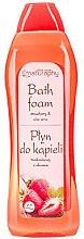 Parfémy, Parfumerie, kosmetika Pěna do koupele Jahoda a aloe - Bluxcosmetics Naturaphy Strawberry & Aloe Vera Bath Foam