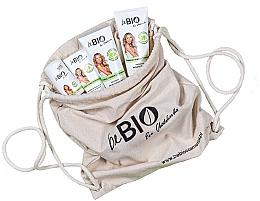 "Parfémy, Parfumerie, kosmetika Sada ""Bambus a citronová tráva"" v ekologickém batohu - BeBio Bamboo And Lemongrass (sh/gel/200ml + b/lot/200ml + hand/cream/75ml + deo/50ml)"