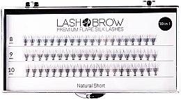 Parfémy, Parfumerie, kosmetika Umělé řasy - Lash Brown Premium Flare Silk Lashes Natural Short