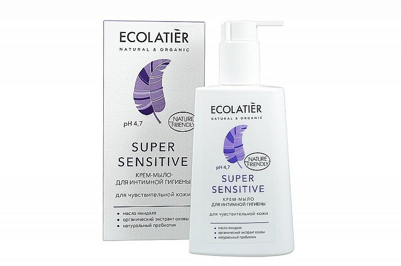 Krém-mýdlo pro intimní hygienu na citlivou pokožku - Ecolatier Super Sensitive