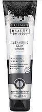 Parfémy, Parfumerie, kosmetika Čisticí maska na obličej s aktivním uhlím, probiotiky a sérem - Freeman Beauty Infusion Cleansing Clay Mask Charcoal & Probiotics