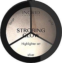 Parfémy, Parfumerie, kosmetika Paleta rozjasňovačů - Ingrid Cosmetics Strobing Glow Palette