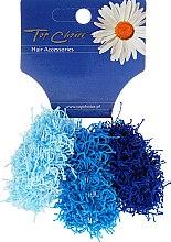 Parfémy, Parfumerie, kosmetika Gumičky do vlasů 3 ks, modré, 21695 - Top Choice