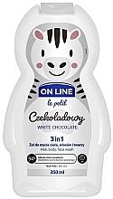 Parfémy, Parfumerie, kosmetika Přípravek na mytí vlasů, těla a obličeje Bílá čokoláda - On Line Le Petit White Chocolate 3 In 1 Hair Body Face Wash
