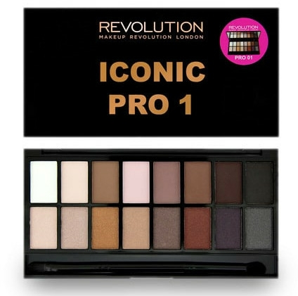 Paleta očních stínů, 16 odstínů - Makeup Revolution Salvation Eyeshadow Palette Iconic Pro 1 — foto N1
