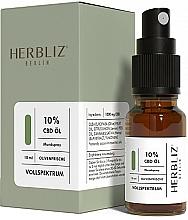 Parfémy, Parfumerie, kosmetika Ustní sprej na bázi oleje Oliva 10% - Herbliz CBD Olive Fresh Oil Mouth Spray 10%