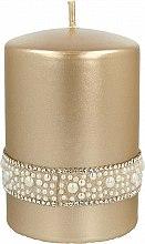 Parfémy, Parfumerie, kosmetika Dekorativní svíčka, zlatá 7x10cm - Artman Crystal Opal Pearl