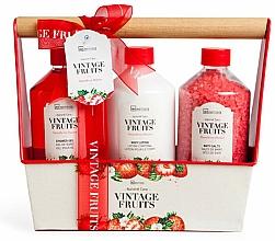 Parfémy, Parfumerie, kosmetika Sada - IDC Institute Vintage Fruits (sh/g/260ml + b/lot/260ml + salt/260g)