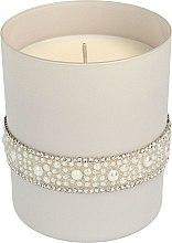 Parfémy, Parfumerie, kosmetika Vonná svíčka, 8x9,5 cm, šedá - Artman Crystal Glass Pearl