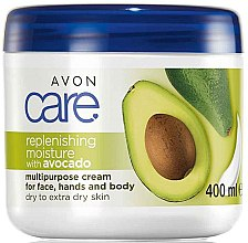 Parfémy, Parfumerie, kosmetika Hydratační krém na obličej a tělo s avokádovým olejem - Avon Care Replenishing Moisture With Avocado Multipurpose Cream For Face, Hands And Body