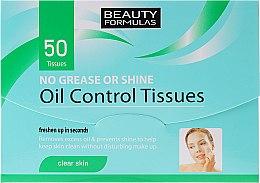 Parfémy, Parfumerie, kosmetika Matující ubrousky na obličej - Beauty Formulas Oil Control Tissues