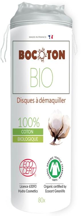 Organické bavlněné tampony kulaté, 80 ks - Bocoton