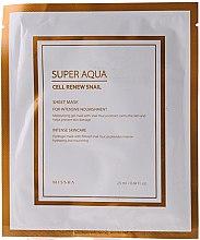 Parfémy, Parfumerie, kosmetika Hydrogelová maska se slizem hlemýždě - Missha Super Aqua Cell Renew Snail Hydro Gel Mask