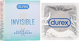 Kondomy 3 ks - Durex Invisible Close Fit — foto N1