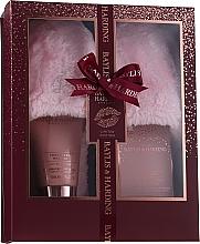 Parfémy, Parfumerie, kosmetika Sada - Baylis & Harding Limited Edition Cranberry Martini (crystals/100g + f/lot/140ml + slippers)