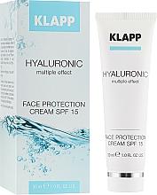 Parfémy, Parfumerie, kosmetika Hydratační krém s kyselinou hyaluronovou SPF 15 - Klapp Cosmetics Hyaluronic Face Protection