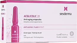 Parfémy, Parfumerie, kosmetika Ampule s kyselinou glykolovou proti stárnutí - SesDerma Laboratories Acglicolic Anti-Aging Flash Effect Ampoules