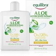 Parfémy, Parfumerie, kosmetika Hydratační gel pro intimní hygienu - Equilibra Aloe Moisturizing Cleanser For Personal Hygiene