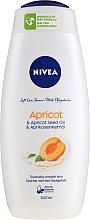 """Parfémy, Parfumerie, kosmetika Pečujicí sprchový gel """"Meruňka"""" - Nivea Bath Care Shower Care&Apricot Seed Oil"""