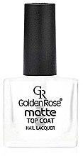 Parfémy, Parfumerie, kosmetika Matný vrchní lak na nehty - Golden Rose Matte Top Coat
