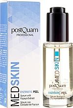 Parfémy, Parfumerie, kosmetika Enzymové sérum peeling na obličej s extraktem papai - PostQuam Med Skin Enzimatic Peel Serum With Papaya Extract