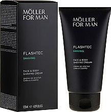 Parfémy, Parfumerie, kosmetika Krém na holení - Anne Moller Man Flashtec Shaving Face And Body Shaving Cream