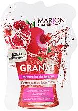 "Parfémy, Parfumerie, kosmetika Maska na obličej ""Granátové jablko"" - Marion Fit & Fresh Pomegranate Face Mask"