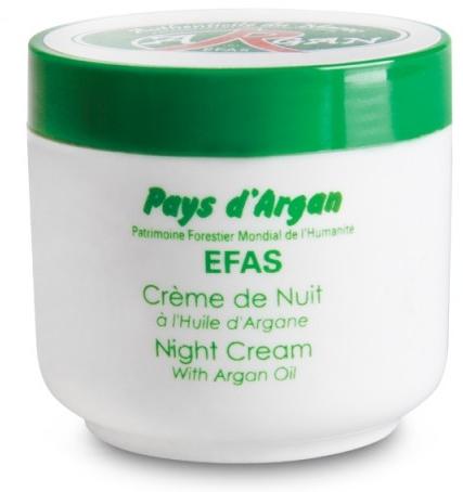 Noční krém na obůičej - Efas Night Cream With Argan Oil