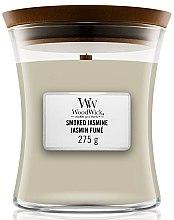 Parfémy, Parfumerie, kosmetika Vonná svíčka ve sklenici - WoodWick Hourglass Candle Smoked Jasmine