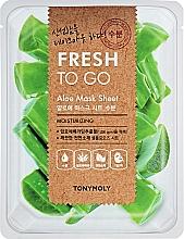 Parfémy, Parfumerie, kosmetika Osvěžující plátýnková maska s aloe - Tony Moly Fresh To Go Mask Sheet Aloe