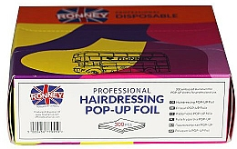 Parfémy, Parfumerie, kosmetika Kadeřnická fólie, 300 ks - Ronney Professional Hairdressing Pop-Up Foil