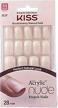 Parfémy, Parfumerie, kosmetika Sada umělých nehtů s lepidlem - Kiss Salon Acrylic Nude Nails Cashmere