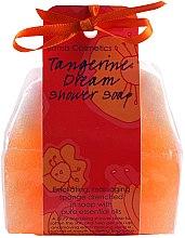 Parfémy, Parfumerie, kosmetika Mýdlo-mycí houba Mandarinkový sen - Bomb Cosmetics Tangerine Dream Shower Soap