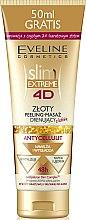Parfémy, Parfumerie, kosmetika Zlatý anticelulitidní čistící peeling-masáž - Eveline Cosmetics Slim Extreme 4D Gold Draining Peeling-Massage