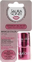 Parfémy, Parfumerie, kosmetika Hydratační gel na rty s růžovým odstínem - Laura Conti Miracle Color Lip Gel