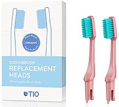 Parfémy, Parfumerie, kosmetika Náhradní hlavice na zubní kartáček, jemná štětina, růžové - TIO Toothbrush Soft
