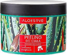 Parfémy, Parfumerie, kosmetika Peeling pro tělo s organickou šťávou z aloe vera - Aloesove