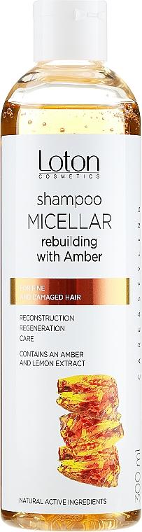 Micelární šampon s extraktem z jantaru - Loton