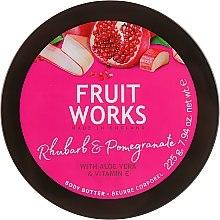 Parfémy, Parfumerie, kosmetika Máslo na tělo Rhubarb & Pomegranate - Grace Cole Fruit Works Body Butter Rhubarb & Pomegranate