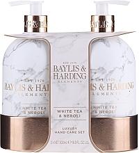 Parfémy, Parfumerie, kosmetika Sada - Baylis & Harding White Tea & Neroli Hand Care Set (soap/500ml + h/b/lotion/500ml)