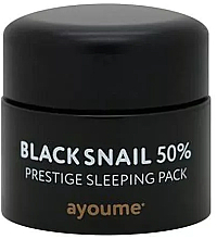 Parfémy, Parfumerie, kosmetika Anti-age noční nesmyvatelná maska na obličej s mucinem černého hlemýždě - Ayoume Black Snail Prestige Sleeping Pack