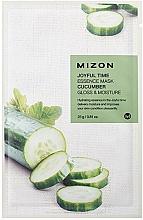 Parfémy, Parfumerie, kosmetika Plátýnková maska s výtažkem z okurky - Mizon Joyful Time Essence Mask Cucumber