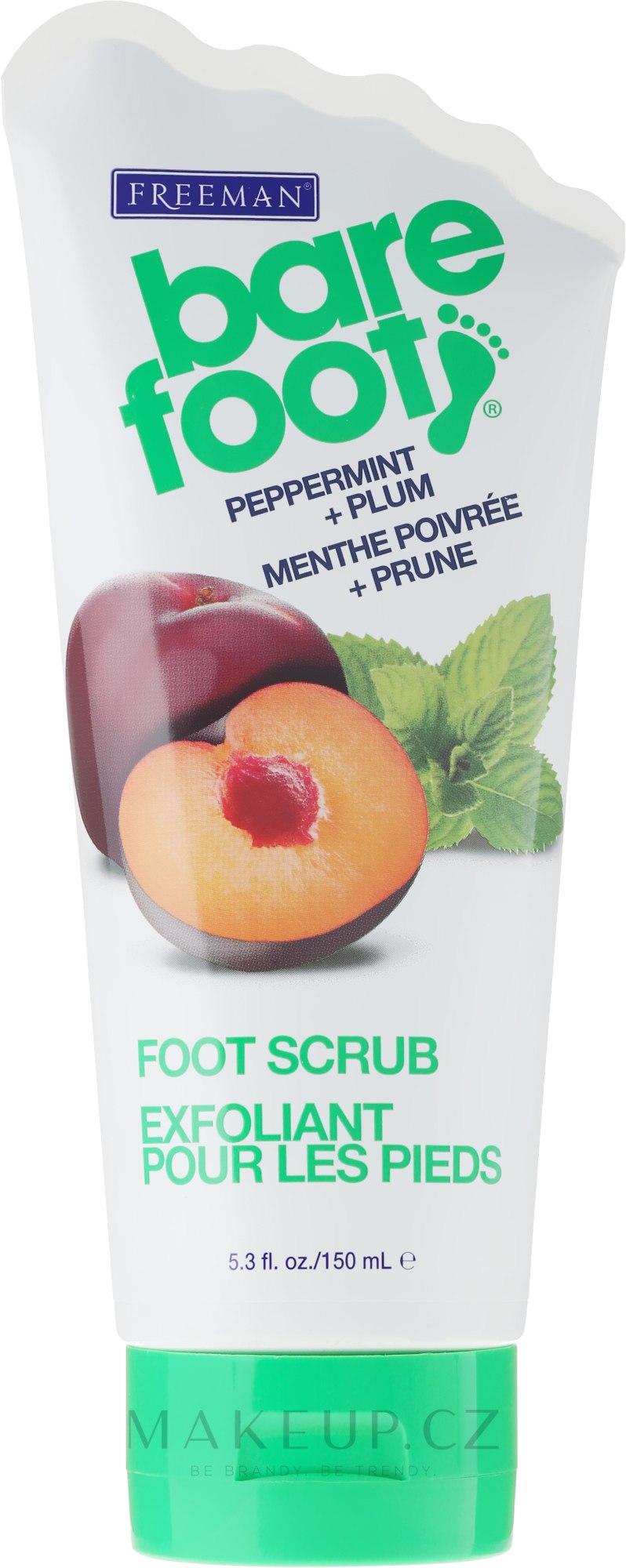 "Peeling na nohy ""Máta peprná a švestka"" - Freeman Bare Foot Foot Scrub Peppermint and Plum — foto 100 ml"