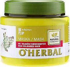 Parfémy, Parfumerie, kosmetika Maska pro barvené vlasy s výtažkem z tymiánu - O'Herbal