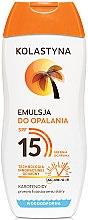 Parfémy, Parfumerie, kosmetika Emulze na opalování - Kolastyna Emulsion SPF 15